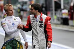 Heikki Kovalainen, Team Lotus and Jerome d'Ambrosio, Virgin Racing