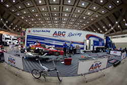 A.J. Foyt Enterprises paddock area
