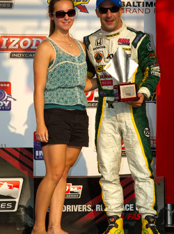 Podium: third place Tony Kanaan, KV Racing Technology-Lotus