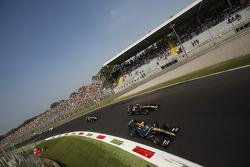 Esteban Gutierrez leads Jules Bianchi