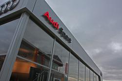 Audi team motorhome