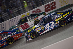 A.J. Allmendinger, Richard Petty Motorsports Ford and Dale Earnhardt Jr., Hendrick Motorsports Chevrolet
