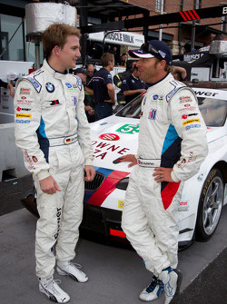 Pole winner Dirk Werner with Bill Auberlen