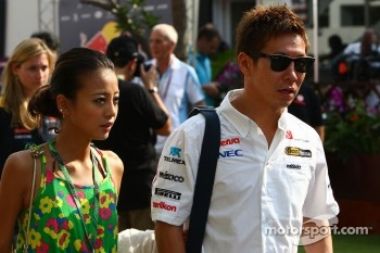 Kamui Kobayashi, Sauber F1 Team and his girlfriend