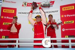 458 podium: class and overall winner #777 Ferrari of Québec Ferrari 458 Challenge: Emmanuel Anassis