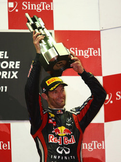 Podium: third place Mark Webber, Red Bull Racing