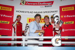 458 podium: class and overall winner #22 Ferrari of Ft. Lauderdale Ferrari 458 Challenge: Enzo Potolicchio