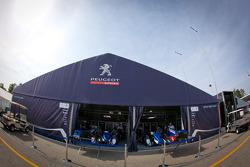 Peugeot Sport Total paddock area