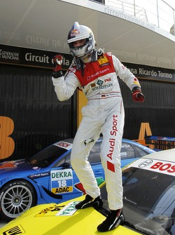 Podium: third place and championship winner Martin Tomczyk (Audi Sport Team Phoenix / Schaeffler Audi A4 DTM (2008))