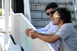 Fernando Alonso, Scuderia Ferrari with his manager
