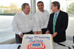 Edsel Ford II, Member of the Board of Directors of Ford Motor Company and William Clay Ford Jr., Executive Chairman of Ford Motor Company prepare to cut Ford Racing's 110th anniversary celebration cake