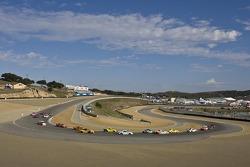 Porsche InterSeries race action