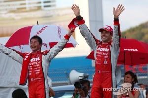 GT500 race winners Satoshi Motoyama, Benoit Tréluyer
