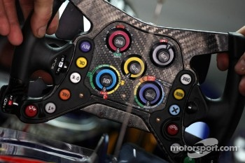 The steering wheel of Sebastian Vettel, Red Bull Racing
