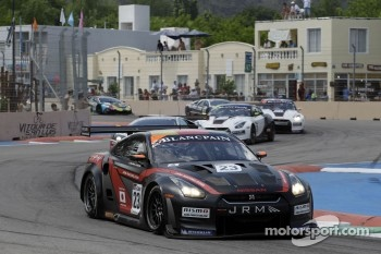 #23 JR Motorsports Nissan GT-R: Lucas Luhr, Michael Krumm