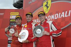 Coppa Shell Ferrari Europa race 1 podium