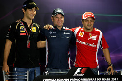 Bruno Senna, Renault F1 Team, Rubens Barrichello, Williams F1 Team and Felipe Massa, Scuderia Ferrari
