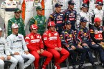 Michael Schumacher, Mercedes GP Petronas F1 Team with Felipe Massa, Scuderia Ferrari, Fernando Alonso, Scuderia Ferrari , Sebastian Vettel, Red Bull Racing and Mark Webber, Red Bull Racing