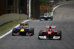 Sebastian Vettel, Red Bull Racing and Felipe Massa, Scuderia Ferrari