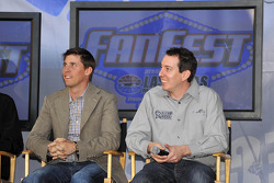 Denny Hamlin and Kyle Busch