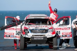 #301 Toyota: Giniel de Villiers and Dirk Von Zitzewitz