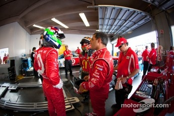 Dario Franchitti, Jamie McMurray and Juan Pablo Montoya