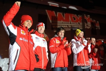 Felipe Massa, Nicky Hayden, Fernando Alonso and Valentino Rossi