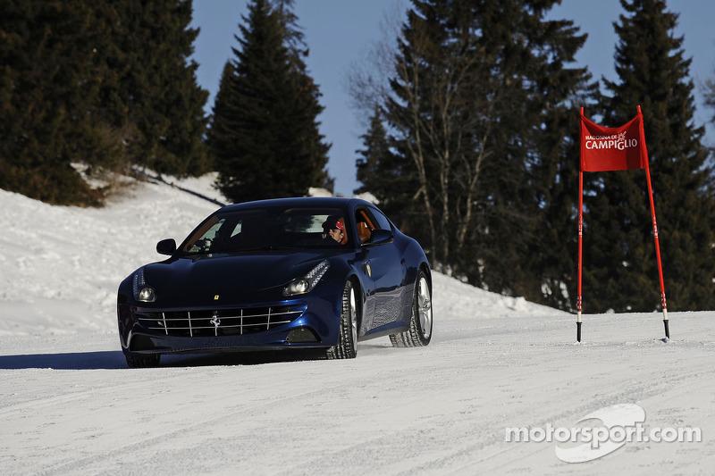 Felipe Massa races the new Ferrari FF