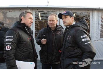 Dave Wilcock, team principal, David Lapworth, technical mentor, and Daniel Sordo, MINI WRC TEAM