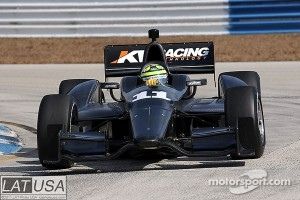 Tony Kanaan's KV Racing indy car that Rubens Barrichello will test