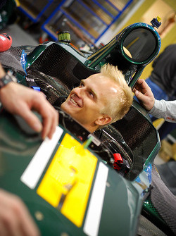 Heikki Kovalainen in the Caterham CT01