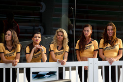 Victory lane: the charming Continental Tire girls on holding pattern