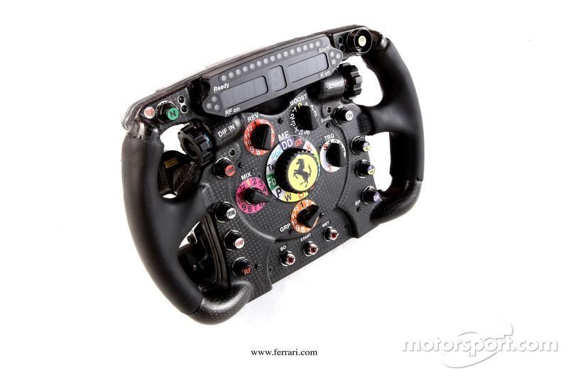 The Ferrari F2012 steering wheel