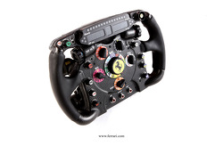 The Ferrari F2012 steering wheel