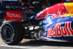 Mark Webber, Red Bull Racing in the new RB8  rear suspension and wing