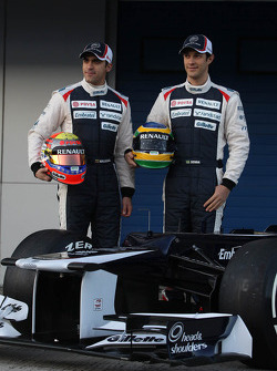Pastor Maldonado, Williams F1 Team and Bruno Senna, Williams F1 Team