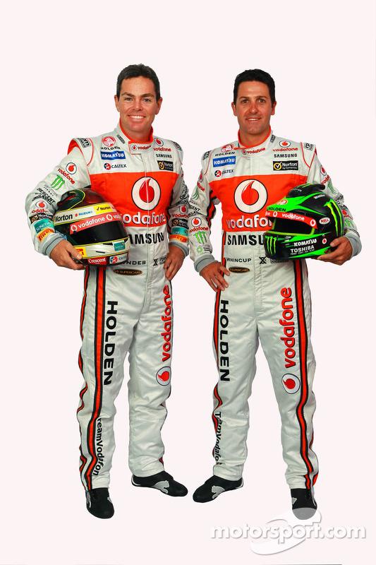 Craig Lowndes and Jamie Whincup