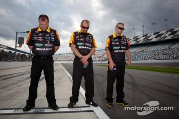 Crew members during National Anthem