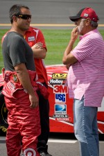 Juan Pablo Montoya, Earnhardt Ganassi Racing Chevrolet with father Juan