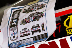 Decal application for the car of Tony Stewart