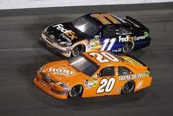 Joey Logano, Joe Gibbs Racing Toyota and Denny Hamlin, Joe Gibbs Racing Toyota