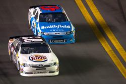 Landon Cassill, BK Racing Toyota and Aric Almirola, Richard Petty Motorsports Ford
