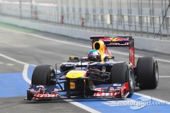Red Bull front wing at a very high angle