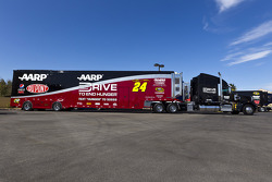 The hauler of Jeff Gordon, Hendricks Motorsports Chevrolet