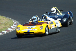 #22 Erwin van Gelder - Lotus 23 Replica (1963) and #9 Robin Longdon - Lola Mk1 Coventry-Climax