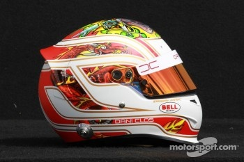 Dani Clos, HRT Formula One Team, test driver helmet 