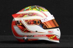 Dani Clos, HRT Formula One Team, test driver helmet