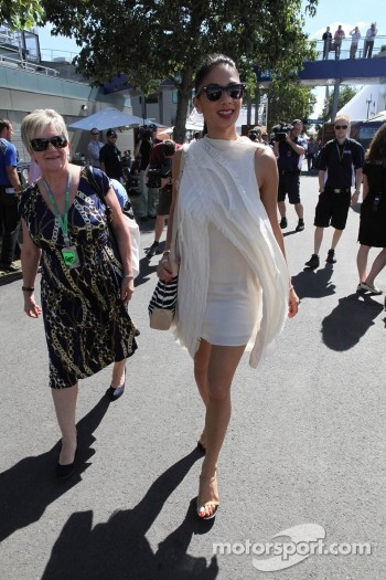 Carmen Lockhart, Mother of Lewis Hamilton with Nicole Scherzinger with Girlfriend of Lewis Hamilton, McLaren Mercedes