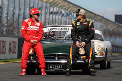 Fernando Alonso, Scuderia Ferrari and Kimi Raikkonen, Lotus F1 Team