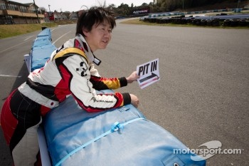 Go-kart charity event: Akira Mizutani